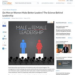 Do Men or Women Make Better Leaders? The Science Behind Leadership