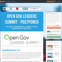 Open Gov Leaders Summit - Postponed