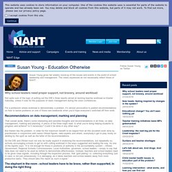 Why school leaders need proper support, not bravery, around workload - NAHT