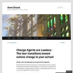 Change Agents are Leaders: The four transitions toward culture change in your school