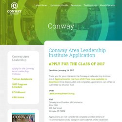 Conway Area Leadership Institute Application