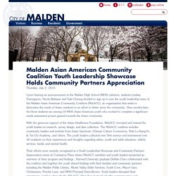 Malden Asian American Community Coalition Youth Leadership Showcase Holds Community Partners Appreciation
