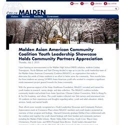 Malden Asian American Community Coalition Youth Leadership Showcase Holds Community Partners Appreciation
