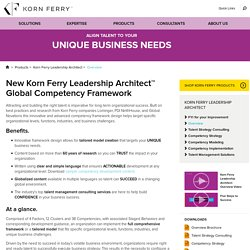 Korn Ferry Leadership Architect™ Global Competency Framework