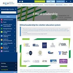Ethical Leadership in Education - National Governance Association