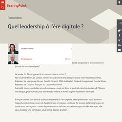 Quel leadership à l'ère digitale ? - BearingPoint France