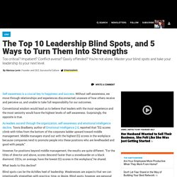 The Top 10 Leadership Blind Spots, and 5 Ways to Turn Them Into Strengths