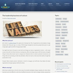 The leadership business of culture - Philip Oude-Vrielink Philip Oude-Vrielink