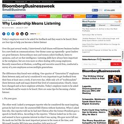 Why Leadership Means Listening