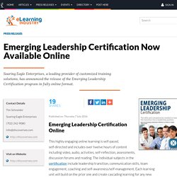 Emerging Leadership Certification Now Available Online - eLearning Industry