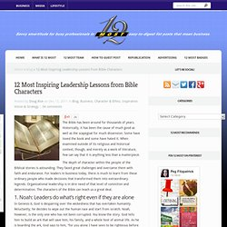 12 Most Inspiring Leadership Lessons from Bible Characters