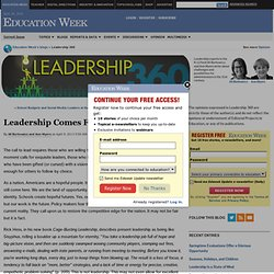 Leadership Comes From The Heart - Leadership 360
