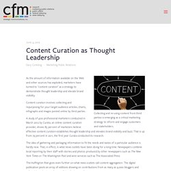 Content Curation as Thought Leadership — CFM Strategic Communications
