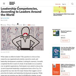The Most Important Leadership Competencies, According to Leaders Around the World