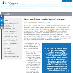Learning Agility - A 2020 Leadership Competency
