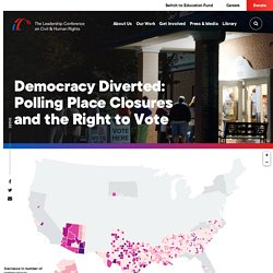 Polling Place Closures and the Right to Vote