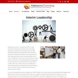 Interim Leadership Solutions in Fort Worth Tx