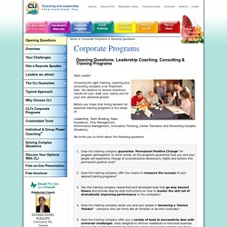 Corporate Sales Training Programs & Leadership Coaching Consulting
