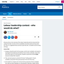Labour leadership contest - who would do what?