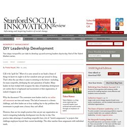 DIY Leadership Development