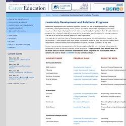 Leadership Development and Rotational Programs