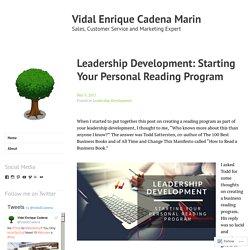 Leadership Development: Starting Your Personal Reading Program