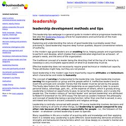 leadership training, leadership tips, theory, skills, for leadership training and development