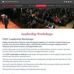 Leadership Workshops, Leadership Development Workshops - Gordon Tredgold