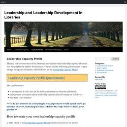 Leadership and Leadership Development in Libraries