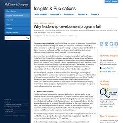 Why leadership-development programs fail