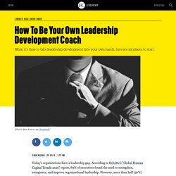 How To Be Your Own Leadership Development Coach