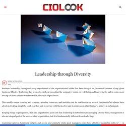 Leadership through Diversity