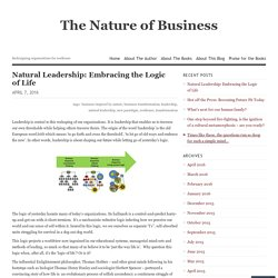 Natural Leadership: Embracing the Logic of Life