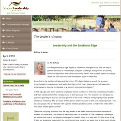 Leadership and the Emotional Edge
