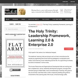 The Holy Trinity: Leadership Framework, Learning 2.0 & Enterpris