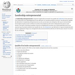 Leadership entrepreneurial