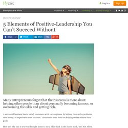 5 Elements of Positive Leadership