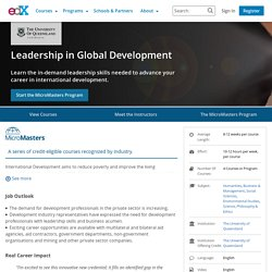 Leadership in Global Development