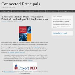 4 Research-Backed Steps for Effective Principal Leadership of 1-1 implementation