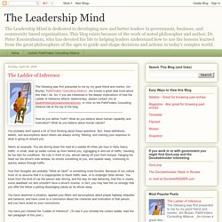 The Leadership Mind: The Ladder of Inference