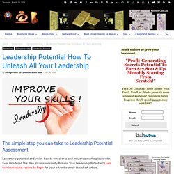 Leadership Potential How To Unleash All Your Laedership
