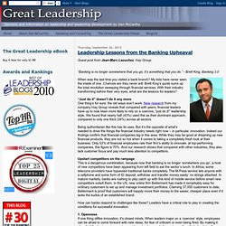 Leadership Lessons from the Banking Upheaval