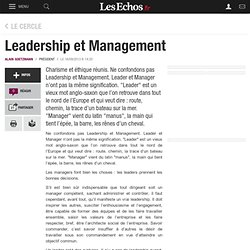 Leadership et Management, Le Cercle