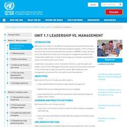 Unit 1.1 Leadership vs. management