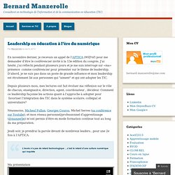 Blog de Bernard Manzerolle -consultant TICE