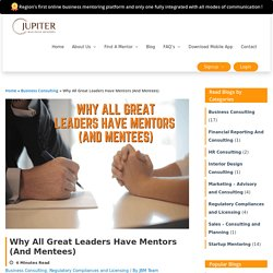 How great leadership mentoring and lead to business success