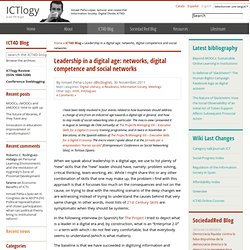 Leadership in a digital age: networks, digital competence and social networks