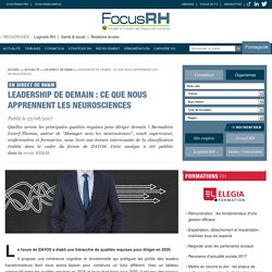 Leadership de demain : ce que nous apprennent les neurosciences - En direct de RH&M - Focus RH