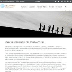 Leadership en matière de politiques