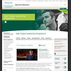 High Impact Leadership Programme